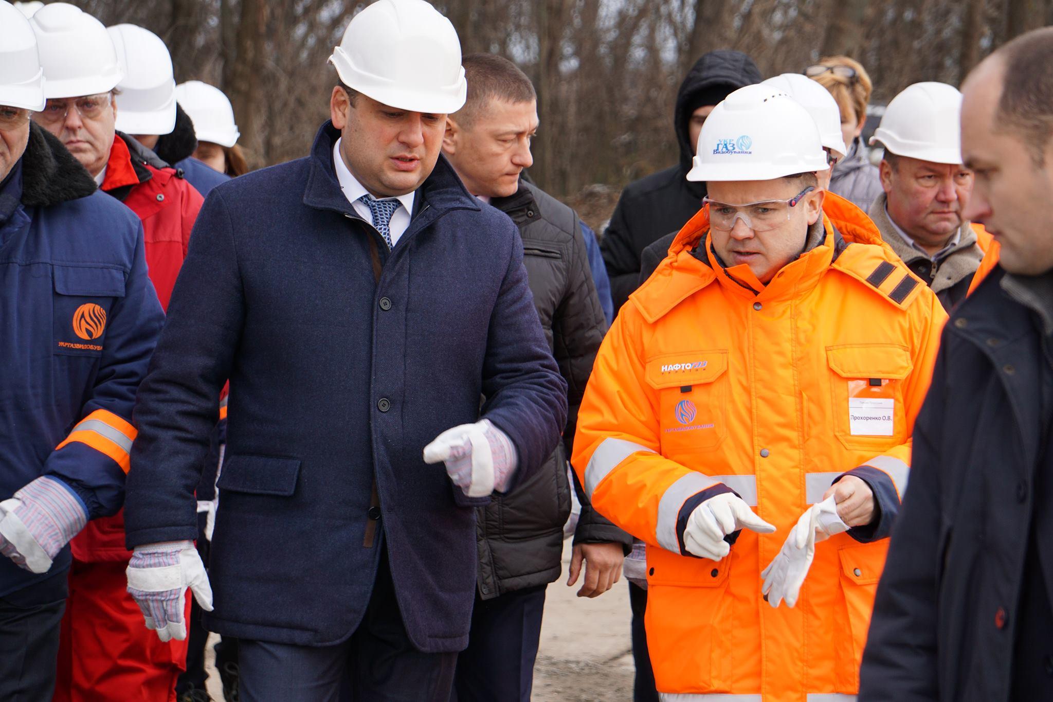 Прем'єр-міністр ознайомився з процесом буріння нових свердловин Укргазвидобування в Полтавській області із залученням хорватської компанії Crosco