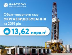 Ukrgasvydobuvannya fulfilled production plan for 2019 and produced over 13.6 billion m3 of gas